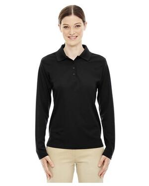 Pinnacle  Ladies Performance Long Sleeve Pique Polo Shirt