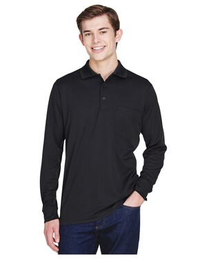 Adult Pinnacle Performance Pique Long-Sleeve Polo with Pocket