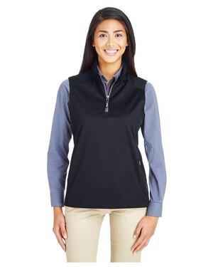 Ladies' Techno Lite Three-Layer Knit Tech-Shell Quarter-Zip Vest