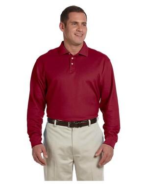 Men's Pima Pique Long-Sleeve Polo