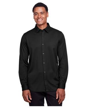 Men's CrownLux Performance™ Plaited Button-Down Shirt