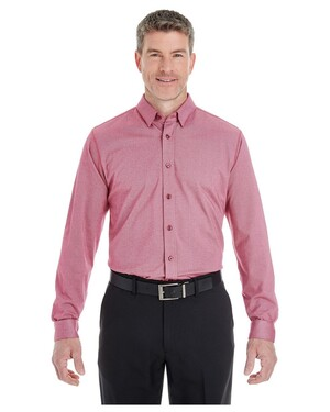 Men's Central Cotton Blend Melange Button-Down