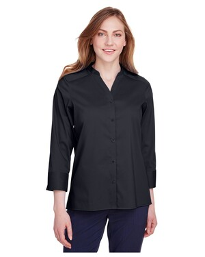 Ladies' Crown  Collection™ Stretch Broadcloth 3/4 Sleeve Blouse