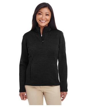 Ladies' Newbury Melange Fleece Quarter-zip