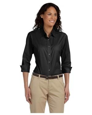 Women's 3/4-Sleeve Stretch Poplin Blouse