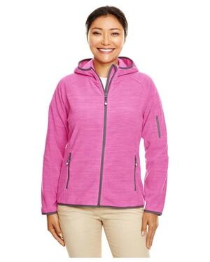 Perfect Fit™ Melange Velvet Fleece Hooded Full-Zip