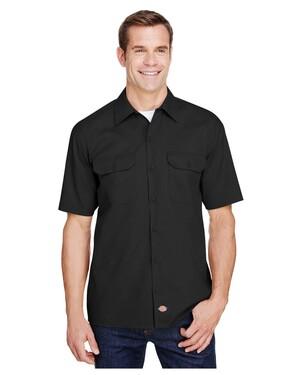 Men's FLEX Relaxed Fit Short-Sleeve Twill Work Shirt