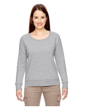 Ladies' Organic/Recycled Heathered Fleece Raglan Pullover