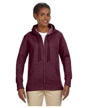Women's 7 oz. Organic/Recycled Heathered Fleece Full-Zip Hood
