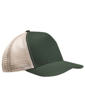 Recycled Semi-Curve 5-Panel Trucker