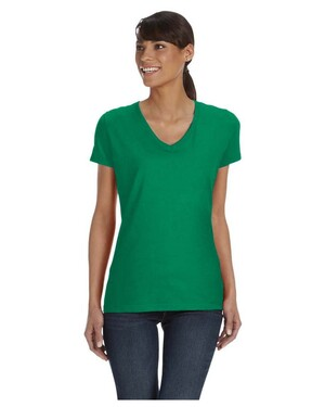 Women's 5 oz., 100% Heavy Cotton HD V-Neck T-Shirt