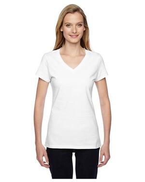 Women's 4.7 oz. 100% Sofspun  Junior V-Neck T-Shirt