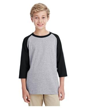 Youth 5.3 oz. 3/4-Raglan Sleeve T-Shirt