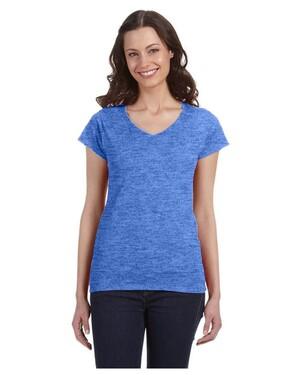 Ladies  4.5 oz. SoftStyle Junior Fit V-Neck T-Shirt