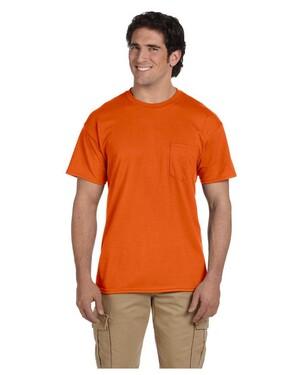 5.6 oz., 50/50 Dry Blend Pocket T-Shirt