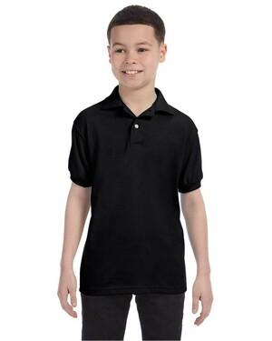 Youth EcoSmart 5.5 oz., 50/50 Jersey Knit Polo Shirt