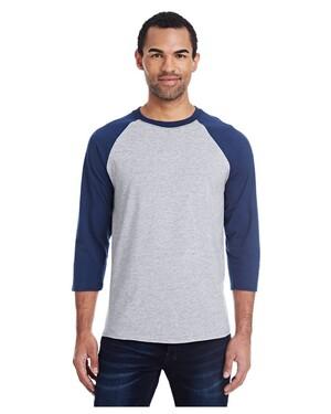Men's 4.5 oz., 60/40 Ringspun Cotton/Polyester X-Temp Baseball T-Shirt