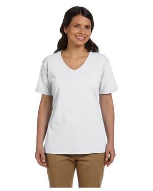 Women's 5.2 oz. ComfortSoft V-Neck Cotton T-Shirt