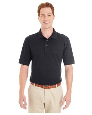 Adult 6 oz. Ringspun Cotton Pique  Pocket Polo