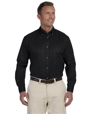 Men's Twill Shirt with Stain-Release