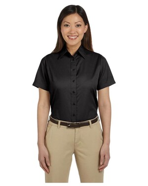 Ladies  Short-Sleeve Twill  with Stain-Release