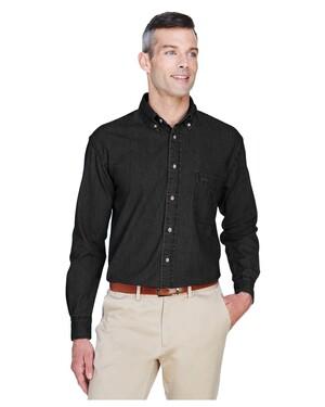 Men's Tall Short-Sleeve Denim Shirt