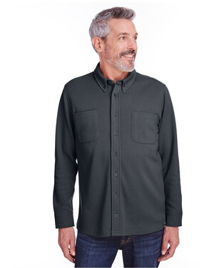 Adult StainBloc™ Pique Fleece Shirt-Jacket