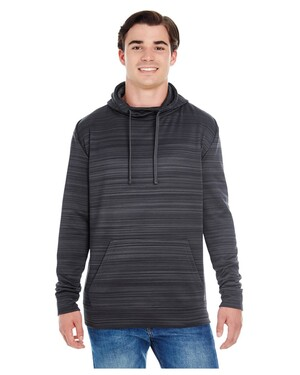 Adult Adult Striped Poly Fleece Pullover Hoodie