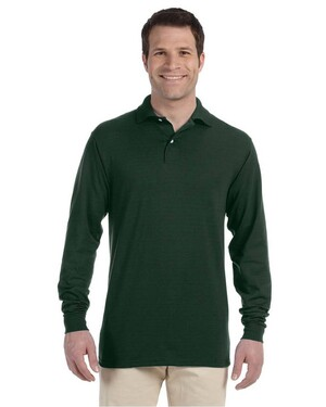 Long-Sleeve Polo Shirt with Spotshield