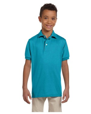 Youth 50/50 Polo Shirt with SpotShield