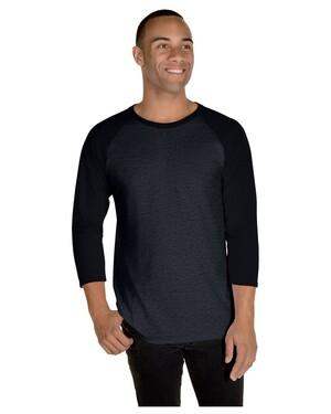 Adult  5.2 oz., Premium Blend Ring-Spun Raglan Baseball T-Shirt