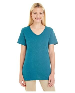 Ladies' 4.5 oz. TRI-BLEND V-Neck T-Shirt