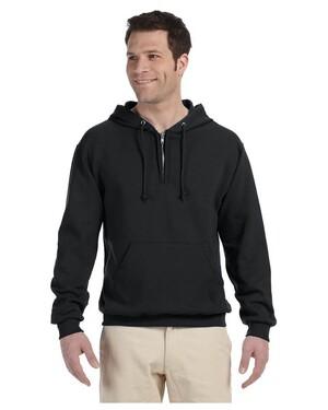 8 oz. NuBlend 50/50 Fleece Quarter-Zip Hoodie