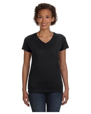 Women's Fine Jersey V-Neck Modern Fit Longer Length T-Shirt