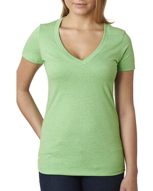 Women's CVC Deep V T-Shirt