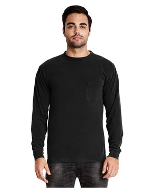 Adult Inspired Dye Long-Sleeve T-Shirt with Pocket