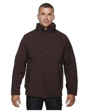 GlacierMen's Insulated Soft Shell Jacket With Detachable Hood