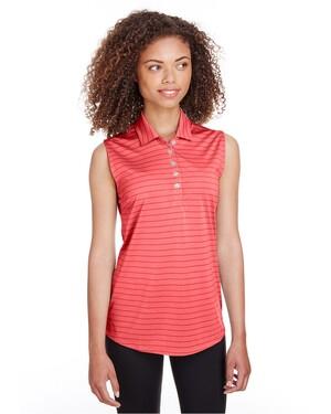 Ladies' Rotation Stripe Sleeveless Polo Shirt