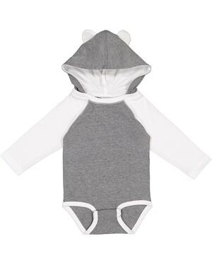 Infant Long Sleeve Fine Jersey Onesie With Ears