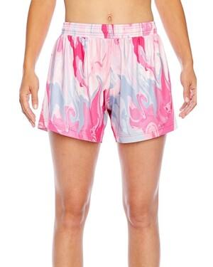 Ladies' Tournament Sublimated Pink Swirl Short