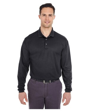 Adult Cool & Dry Long-Sleeve Mesh Pique Polo