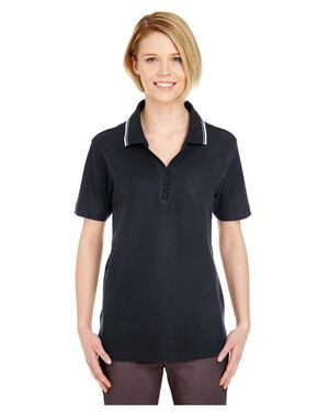 Ladies' Short-Sleeve Whisper Piqué Polo with Tipped Collar