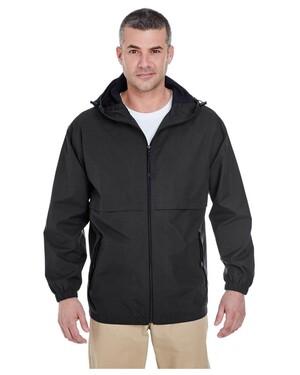 Adult Microfiber Full-Zip Hooded Jacket