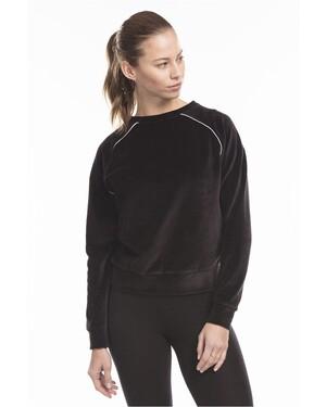 Women's Velour Long Sleeve Crop T-Shirt