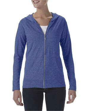 Triblend Women's Hooded Full-Zip T-Shirt