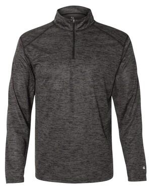 Tonal Blend Quarter-Zip Pullover T-Shirt