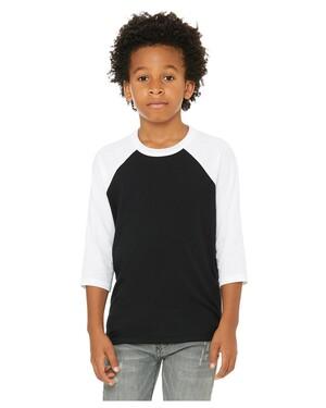 Youth Three-Quarter Sleeve Baseball T-Shirt