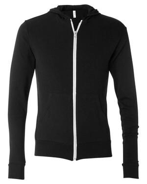 Triblend Unisex Lightweight Hooded Full-Zip T-Shirt