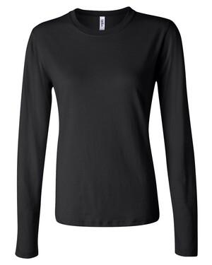 Women's Long Sleeve Crewneck Jersey T-Shirt
