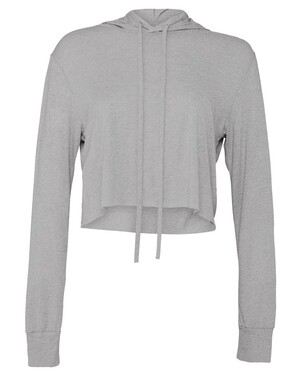 Women's Tri-Blend Cropped T-Shirt Hoodie